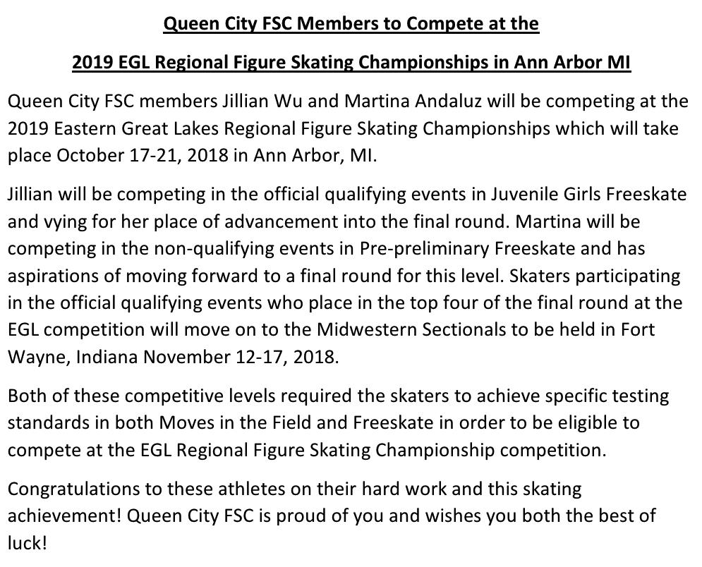 2019 QCFSC Regional Competitors