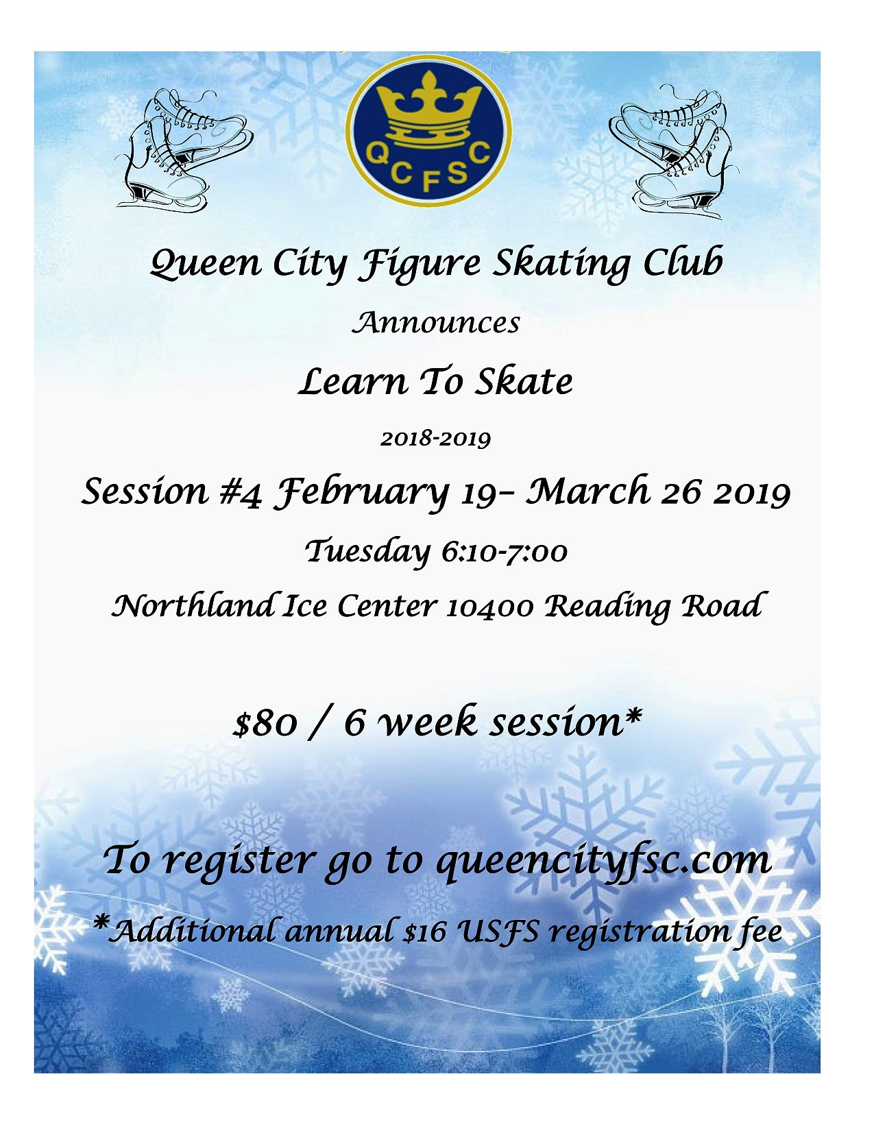 QCFSC 2018-19 Learn to Skate Session #4