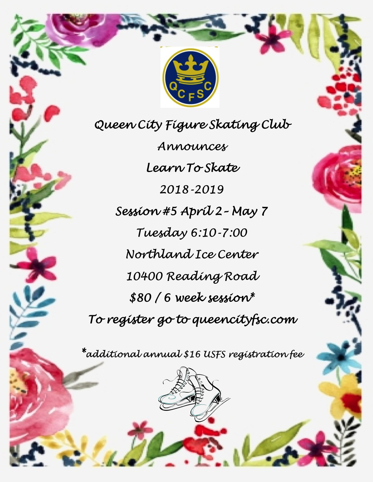 QCFSC 2018-19 Learn to Skate Session #5